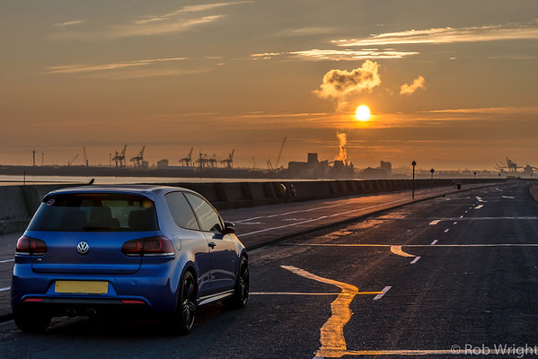 My Golf R over looking Liverpools Docks