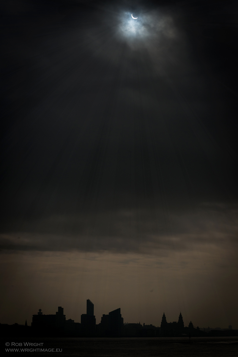 Eclipse over Liverpool