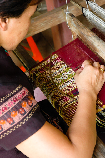 Looming Teenjok Fabric<br /> Ban Hat Siaw, Sukhothai Province
