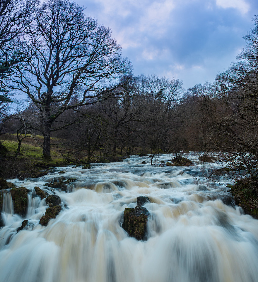 Swallow Falls, Snowdonia in Wales. This is my favourite  shot of the day out with Vicki and my sister Emma.  I love the look of the water and the colour in the sky.