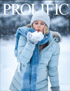 My cover in Prolific magazine, USA, Florida, winter 2017