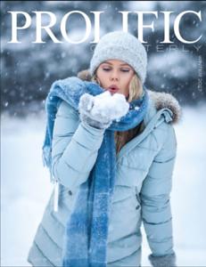 My cover in Prolific magazine, USA, Florida, winter 2017
