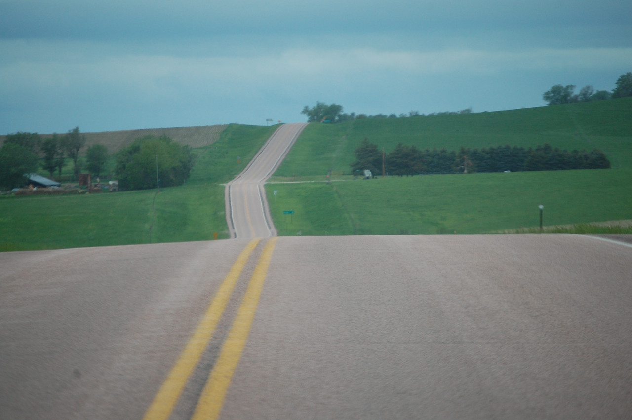 A rural drive on US 18 southeast of Bonesteel, South Dakota