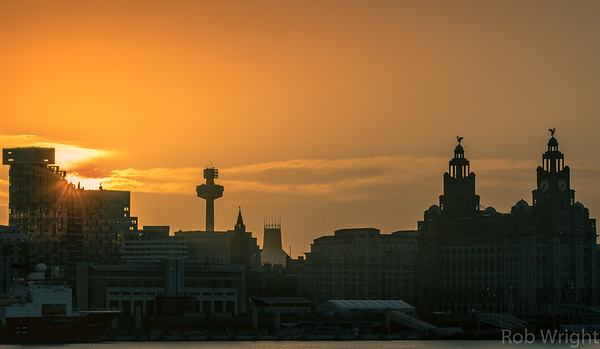 Liverpool Skyline at Sunrise.