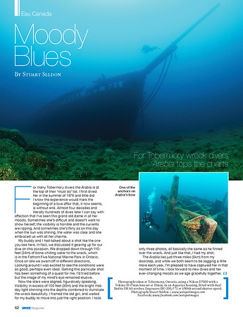 DIVER Magazine ® Feature,  November 2014