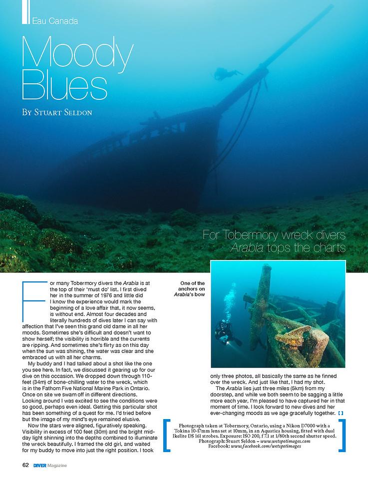 DIVER Magazine ® Feature,  November 2014