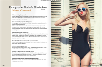 My Interview in Modellenland magazine, February 2017