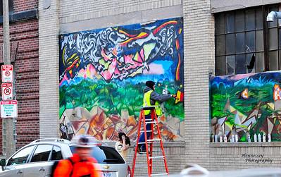 Graffitti artist Tyson