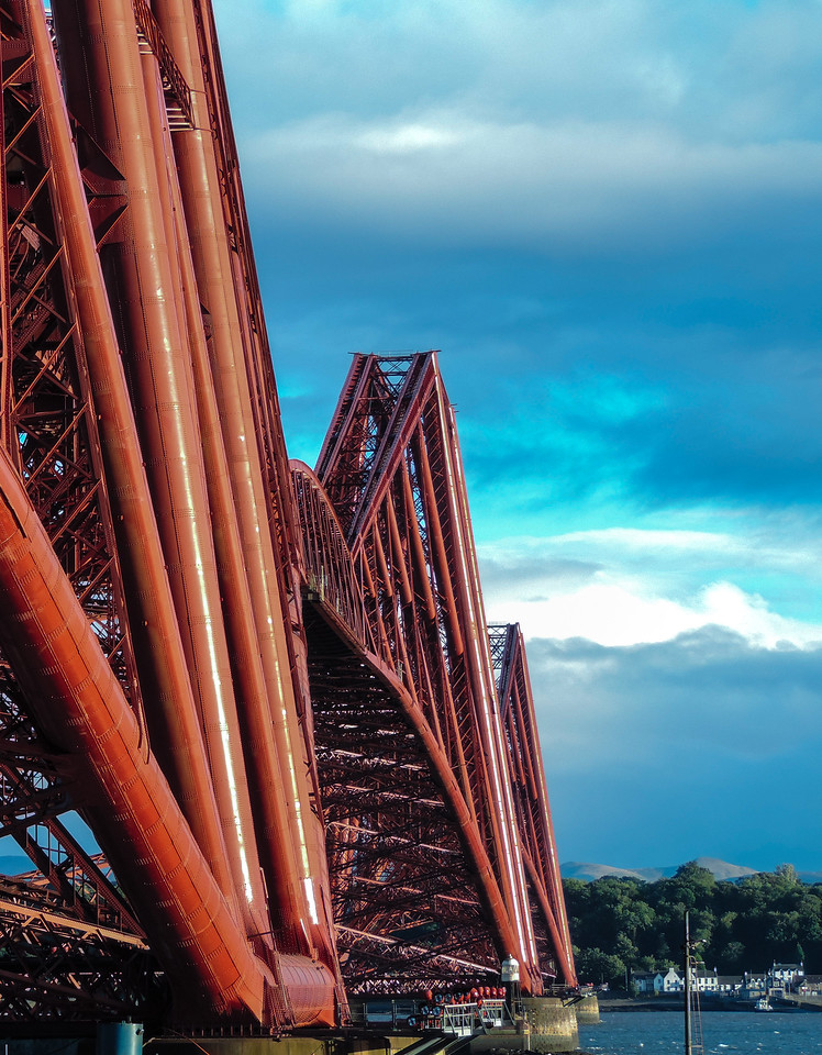 Forth Bridge(Train) in Scotland. I like the angle of this, its very hard to compose a shot as the bridge is just massive. You don't realise how big it is until you stand underneath it.