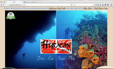 Updated Website for Huracan Diving... featuring my images!