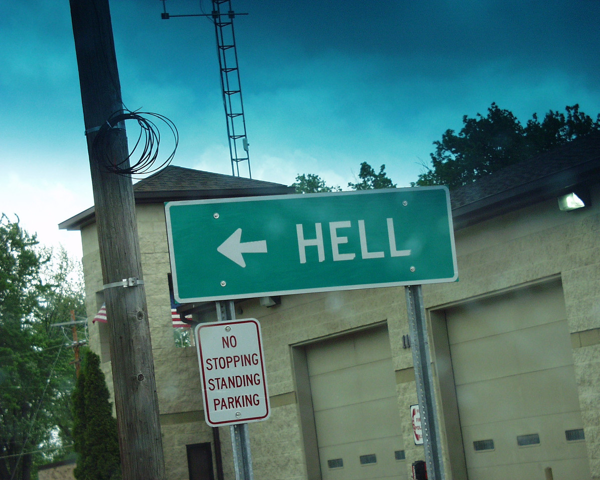 This way to Hell in Michigan