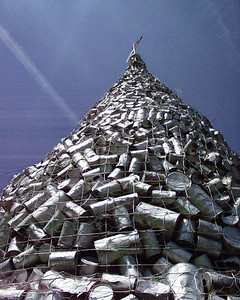 World's Largest pile of cans in Casselton, North Dakota.  (no longer in existence)