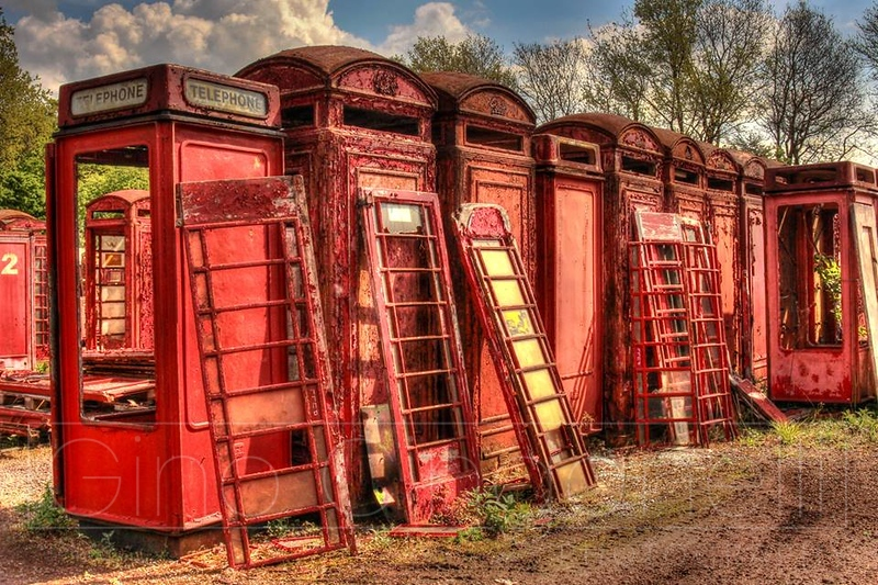 The red telephone box graveyard
