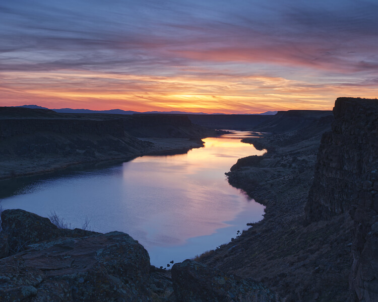 Sunset on the Snake River, Idaho