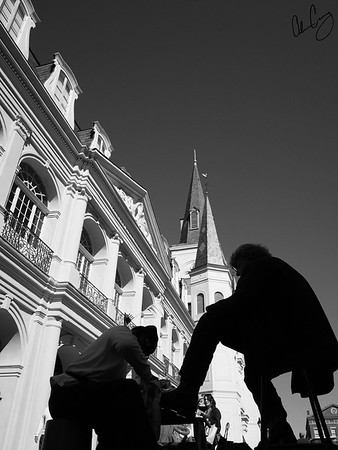 shoe shine in jackson square