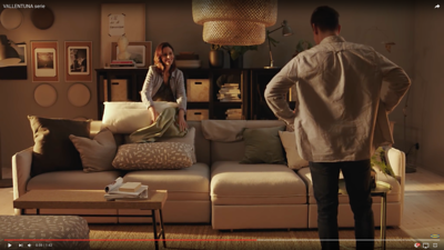 Ikea commercial (photo on the wall)