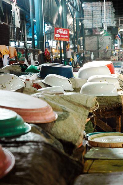 Bowls Drying<br /> Samut Songkhram Railway Market