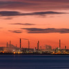 Stanlow Oil Refinery before sunrise