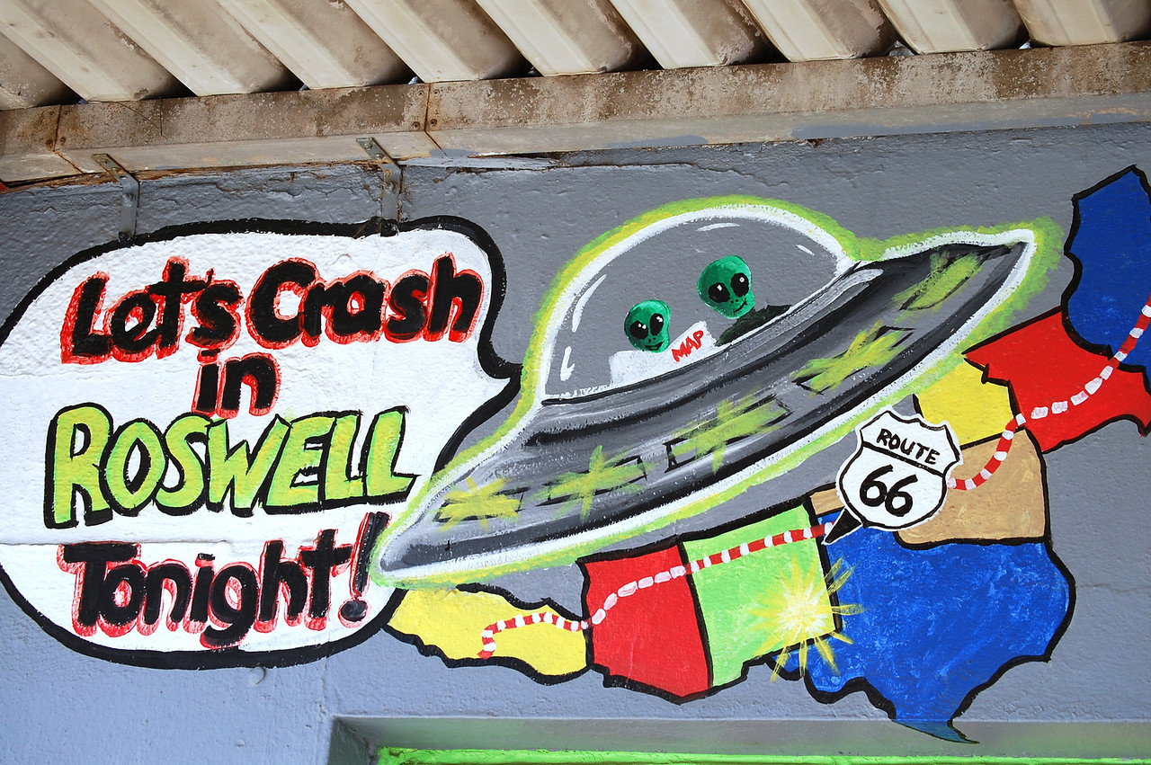 Wall mural in Roswell, New Mexico