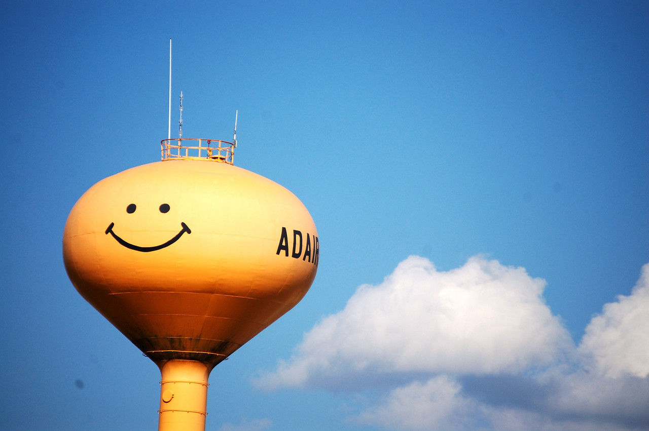 The Smiley Water tower of Adair, Idaho