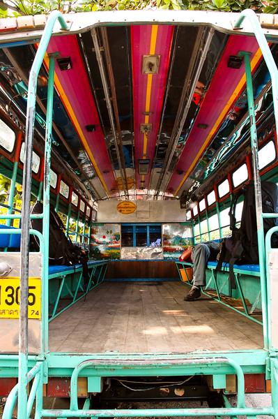 Inside Jeepney<br /> Ratchaburi Province