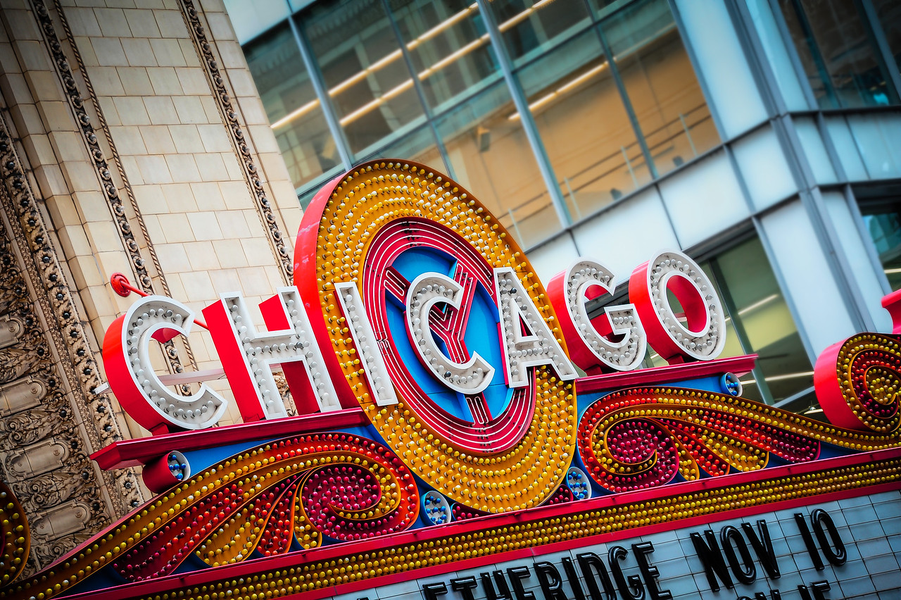Chicago Theatre Sign Edit 1166