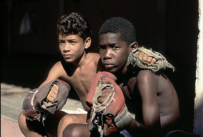 Kids Cuban Boxing Guantanamo Cuba