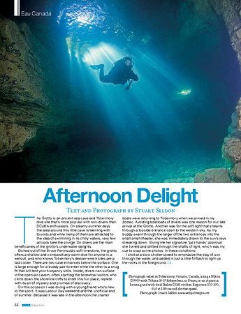 DIVER Magazine ® Feature, March 2015