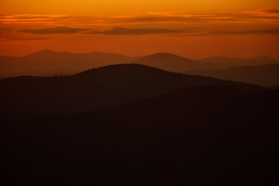 Sunset from Bald Mountain