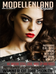 Cover in Modellenland magazine, February 2017