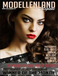 Cover in Modellenland magazine, February 2017