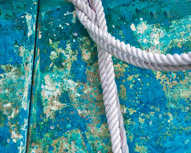 Blue Study with Rope 534