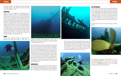 Images in Boomer Magazine for an article about Tobermory diving.