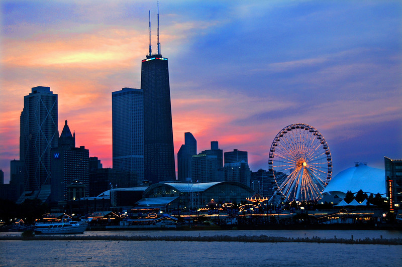 Chi Skyline at Dusk Edit 2