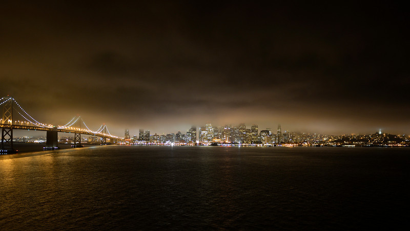 Foggy San Francisco Skyline