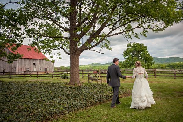 Wedding of Liberty and Chad Callaway, May 4, 2013, Amherst, VA. Photo by Megan Bearder Photography.