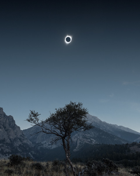 Total Solar Eclipse, 8-21-2017, Lost River Range, Idaho
