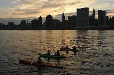 Kayaking East River