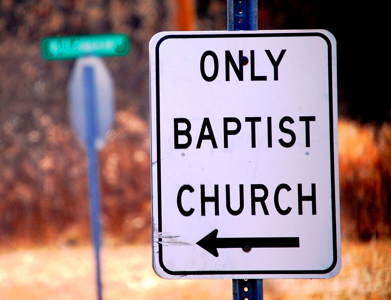 Sign to Only Baptist Church in Only, Tennessee
