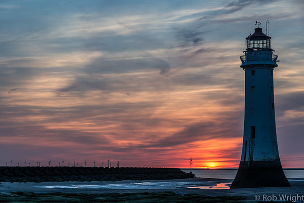 New Brighton Lighthouse, sunset 2