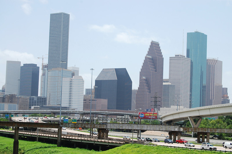 A view of Houston, Texas skyscrapers