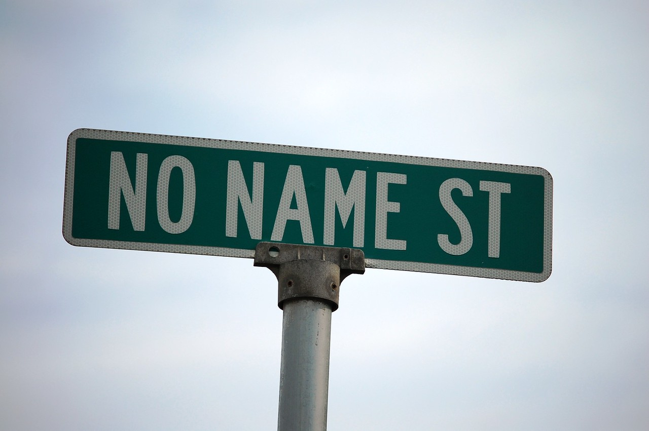 No Name Street sign in a small town in Ohio