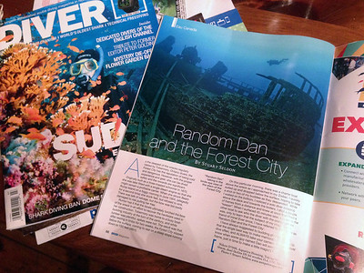 The September issue of DIVER Magazine featured my image of the Forest City...
