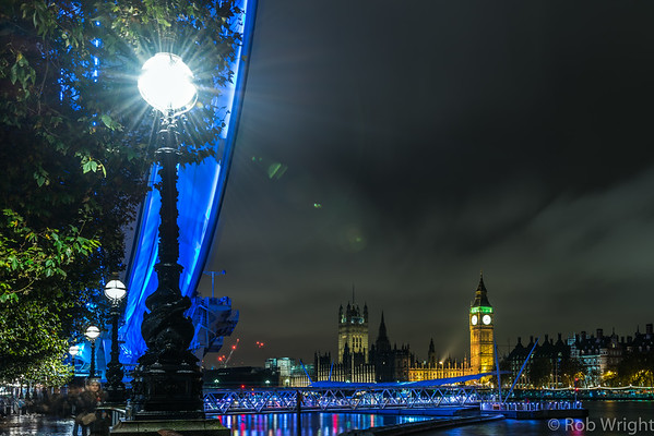 London Eye, Big Ben and Houses of Parliament