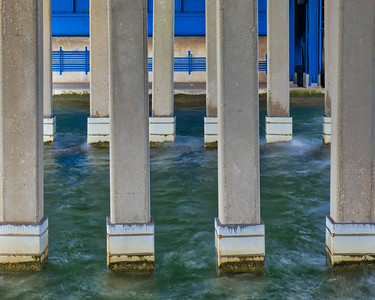 Pilings with Blue 3890