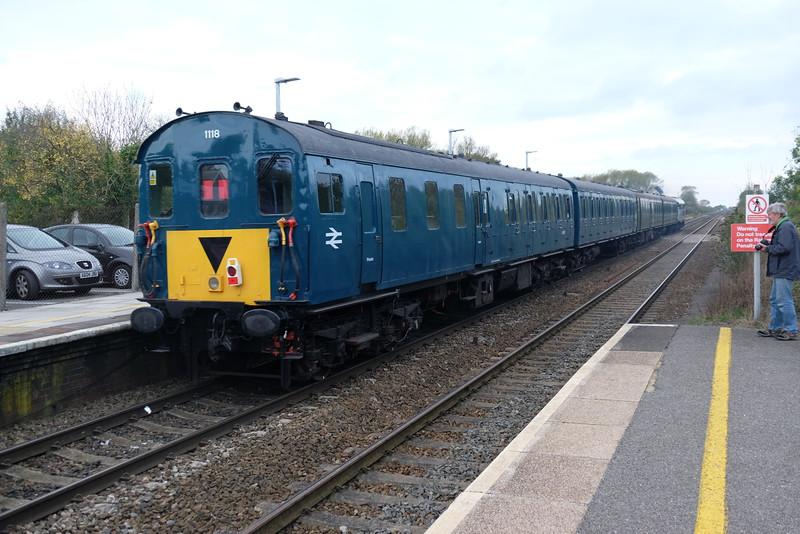 Rear of  5Z05 for Oakhampton from St Phillips Marsh