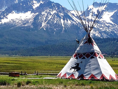 Wigwam near Stanley, Idaho in the Sawtooth Mountains