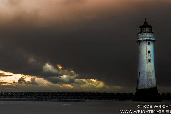 New Brighton Lighthouse, Storm