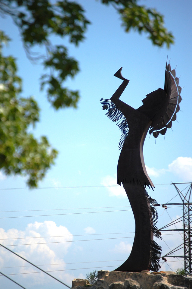 Giant Indian Chief statue in Wichita, Kansas
