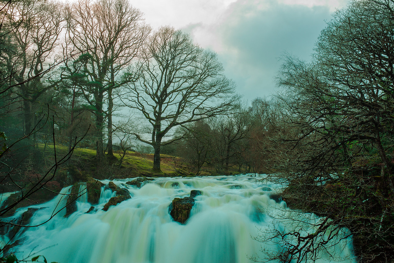 Swallow Falls in Snowdonia. This shot was taken when I was out with Vicki and my sister Emma. The noise from the waterfall was incredible. Great day out.